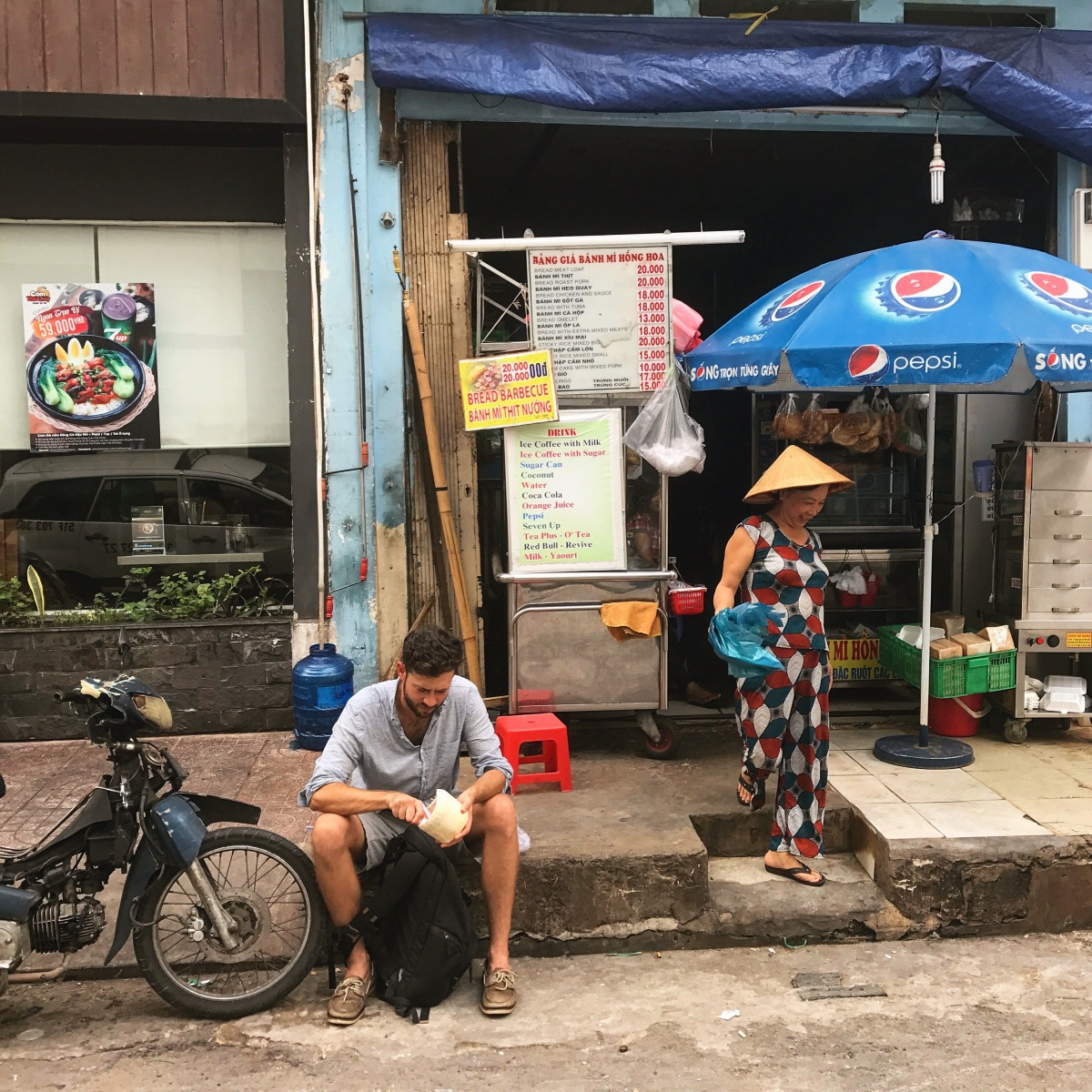 Eating in Vietnam. Also, a Travel Companion